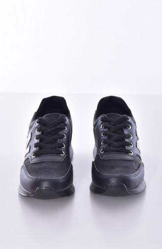 Black Sport Shoes 0777-02