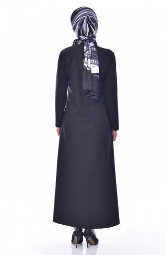 Cep Detaylı Elbise 2127-01 Siyah 2127-01