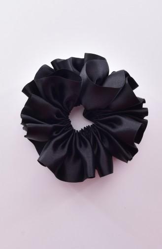 Pince a Cheveux Ruban Satin 0004-01 Noir 0004-01