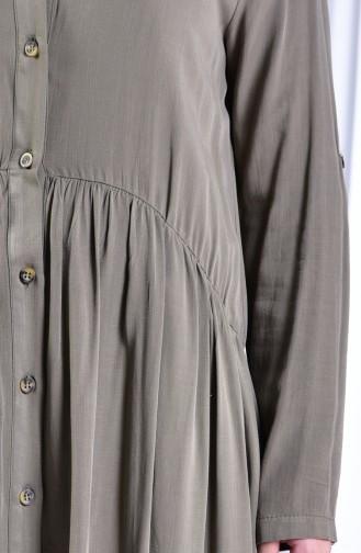 Pleated Shirt 3965-01 Khaki 3965-01