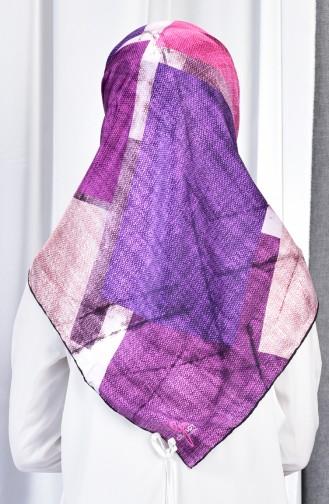 Printed Rayon Scarf 70080-02 light Purple 02