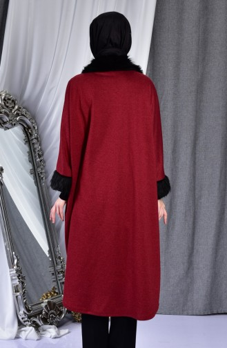 Claret red Poncho 1650-04