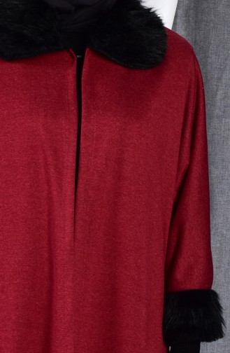 Furry Poncho 1550-01 Bordeaux 1550-01