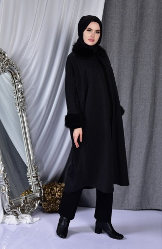 Light Black Poncho 1650-01