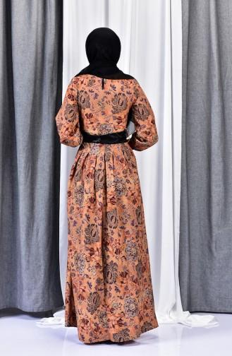 Robe Imprime Numérique 2004-03 Moutarde 2004-03