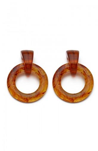 Brown Earring 7616