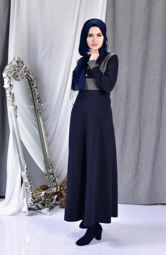 Garnili Elbise 7129-01 Lacivert 7129-01