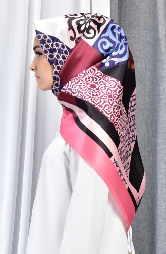 Geometric Patterned Taffeta Shawl 70079-05 Candypink 05