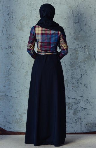 Kemerli Elbise 2541-03 Siyah