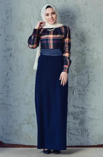 فستان بتصميم حزام خصر 2119A-02 لون أخضر 2119A-02