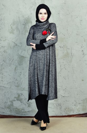 Pantolon Tunik İkili Takım 1827989-400 Gri Siyah