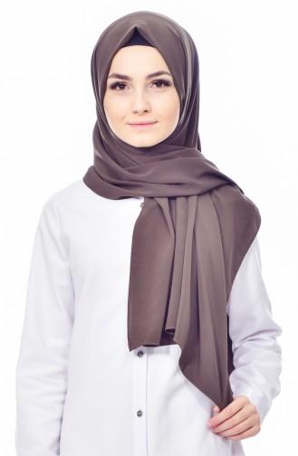 Plain Cotton Shawl 69807-01 Dark Brown 69807-01
