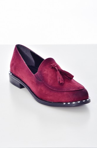 Claret red Casual Shoes 103K-03
