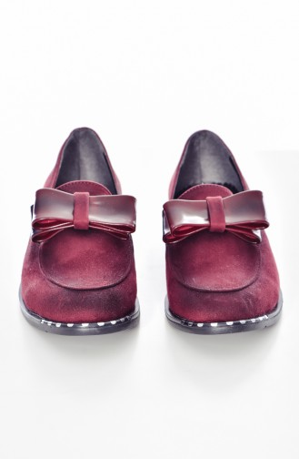 Chaussures avec Noeud 105K-03 Bordeaux Daim 105K-03