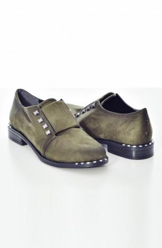 Chaussures Pour Femme 108K-02 Khaki Daim 108K-02