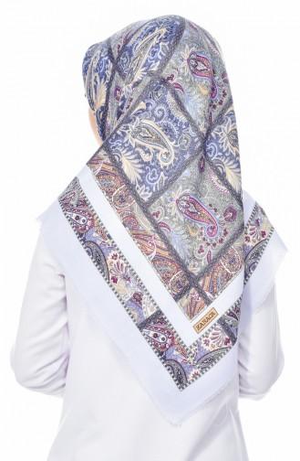Karaca Desenli Yün Eşarp 90522-07 Lacivert Mavi 90522-07