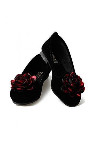 Claret red House Shoes 0107-02