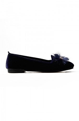 Navy Blue House Shoes 0108-02