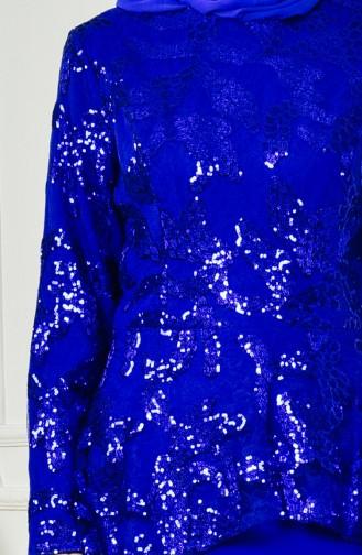 Plus Size Sequined Evening Dress 701093-01 Saks 701093-01