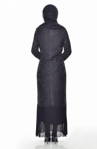 Robe Mousseline a Paillettes 60719-02 Noir 60719-02