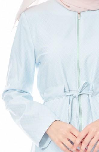 كاب بتصميم مزموم عند الخصر 0136-01 لون اخضر مائل للأزرق 0136-01