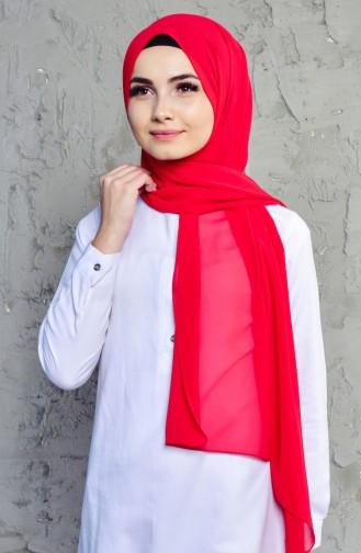 كرّجا شال كريب بتصميم سادة9052-05 لون احمر فاتح 90521-05