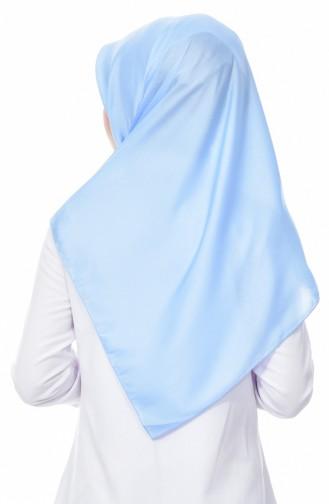 كاراكا شال سادة بتصميم لامع 90520-09 لون ازرق فاتح 90520-09