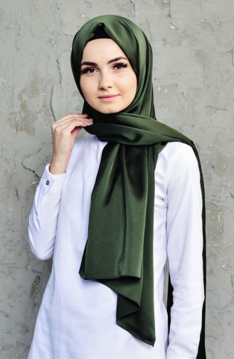 Double Sided Crepe Shawl 70084-03 Khaki 03