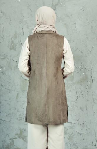 Gilet Daim a Franges 1724385-201 Khaki 1724385-201