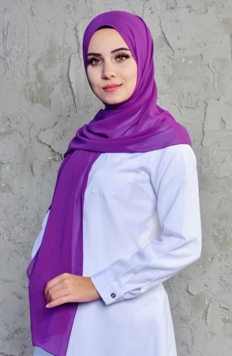 Karaca Plain Crepe Shawl 9052-36 Dark Purple 90521-36