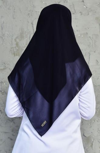Büyük Boy Krep Eşarp 50024-01 Siyah