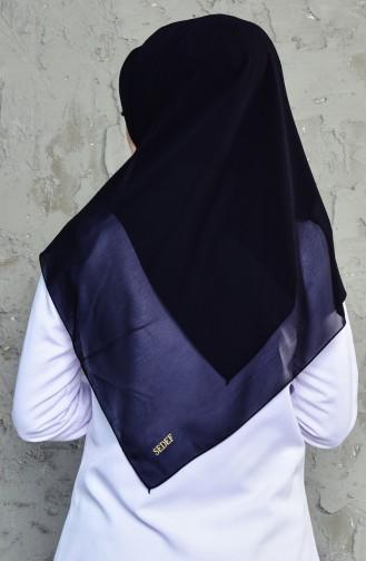 Übergröße Kopftuch aus Kreppstoff 50024-01 Schwarz 01