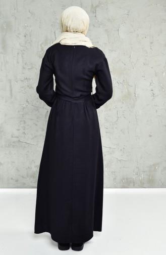 Belted Dress 1652-04 Black 1652-04