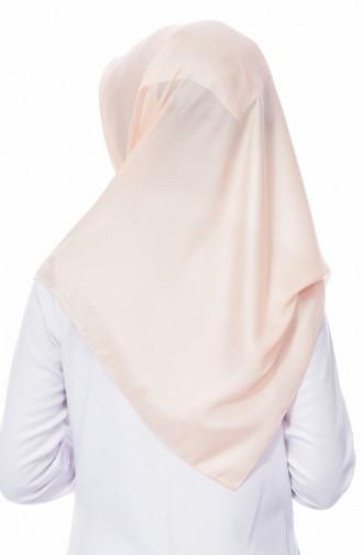 كاراكا شال سادة بتصميم لامع 90520-18 لون مشمشي 90520-18