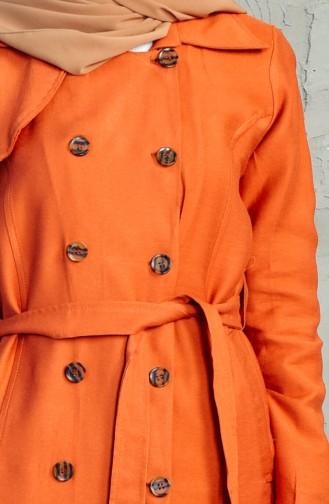 كاب بتصميم حزام للخصر 4552-01 لون قرميدي فاتح 4552-01