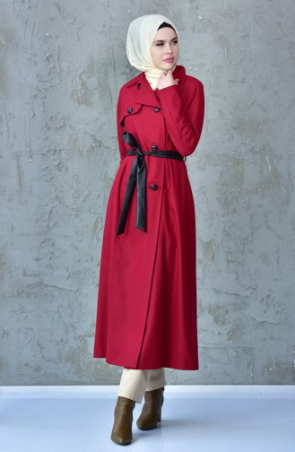Belted Coat 1729099-300 Claret Red 1729099-300