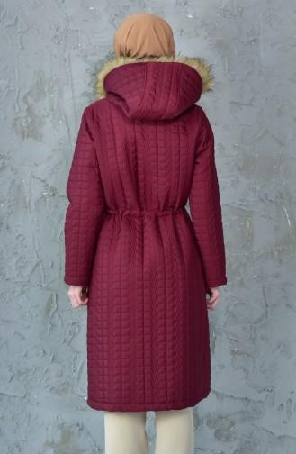 Hooded Padded Coat 5096-03 Bordeaux 5096-03