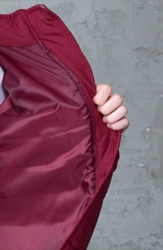 Hooded Padded Coat 5100-03 Bordeaux 5100-03