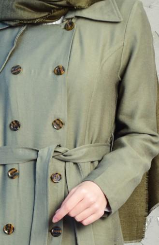 كاب بتصميم حزام للخصر 4552-03 لون اخضر كاكي 4552-03
