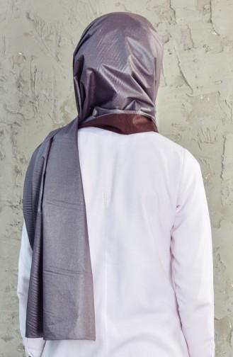 شال قطن بتصميم سادة 39937-01 لون رمادي داكن 39937-01