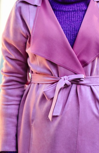 Suede Trench Coat 2013-06 Pink 2013-06
