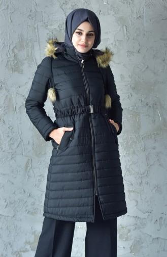 Hooded Padded Coat 5095-01 Black 5095-01