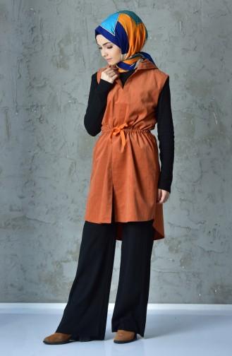 Gilet a Capuche 1380-01 Orange 1380-01