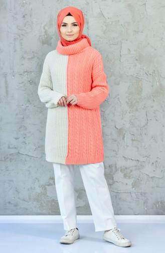 Knitwear Pearl Sweater 0406-03 Salmon Beige 0406-03