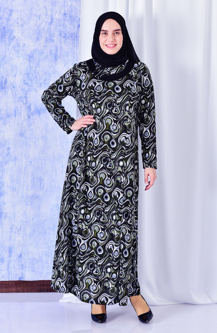 16cda8e974e Plus Size Pattern Dress 4810A-04 Khaki 4810A-04