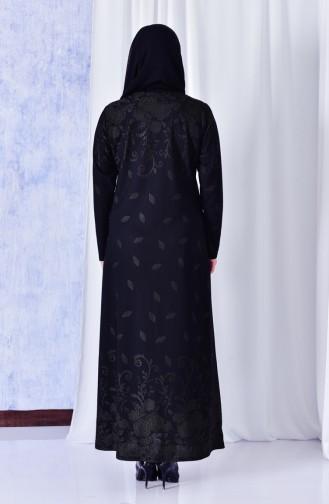 Robe Jaquard Imprimée de Pierre Grande Taille 4811-03 Khaki 4811-03