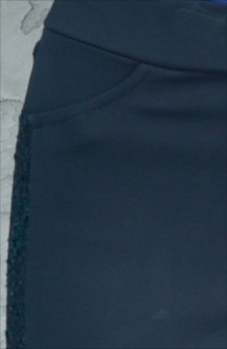 Pantalon Simple Détail Dentelle 1825327-900 Vert emeraude Foncé 1825327-900