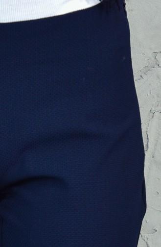 TUBANUR Zippered Pants 2988-02 Navy Blue 2988-02