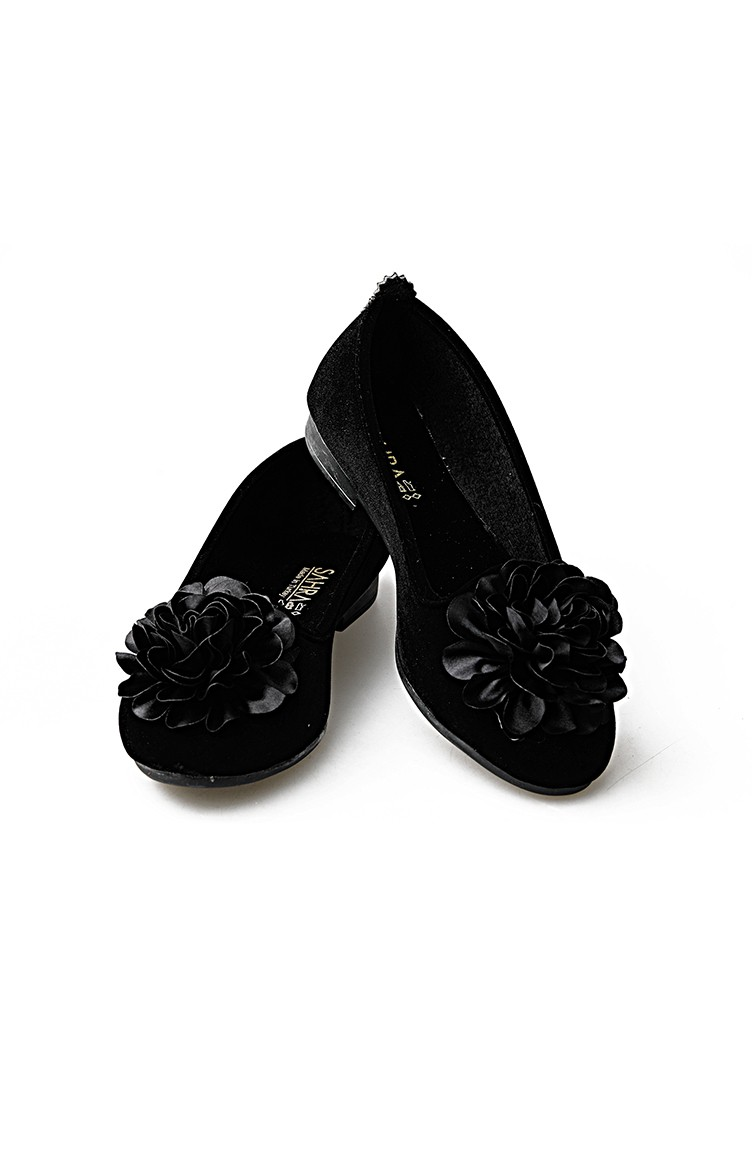 7f9a73e5e1 Women Suede Ballerina Shoes 0107-03 Black 0107-03