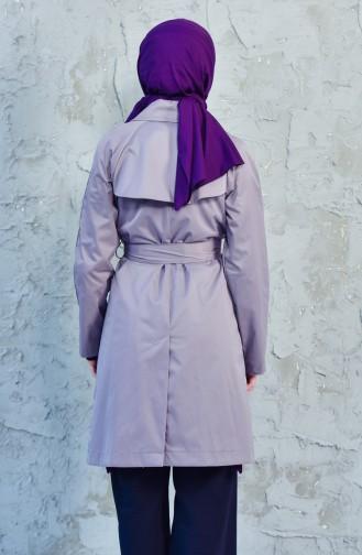Dark Lilac Trench Coats Models 90001-09